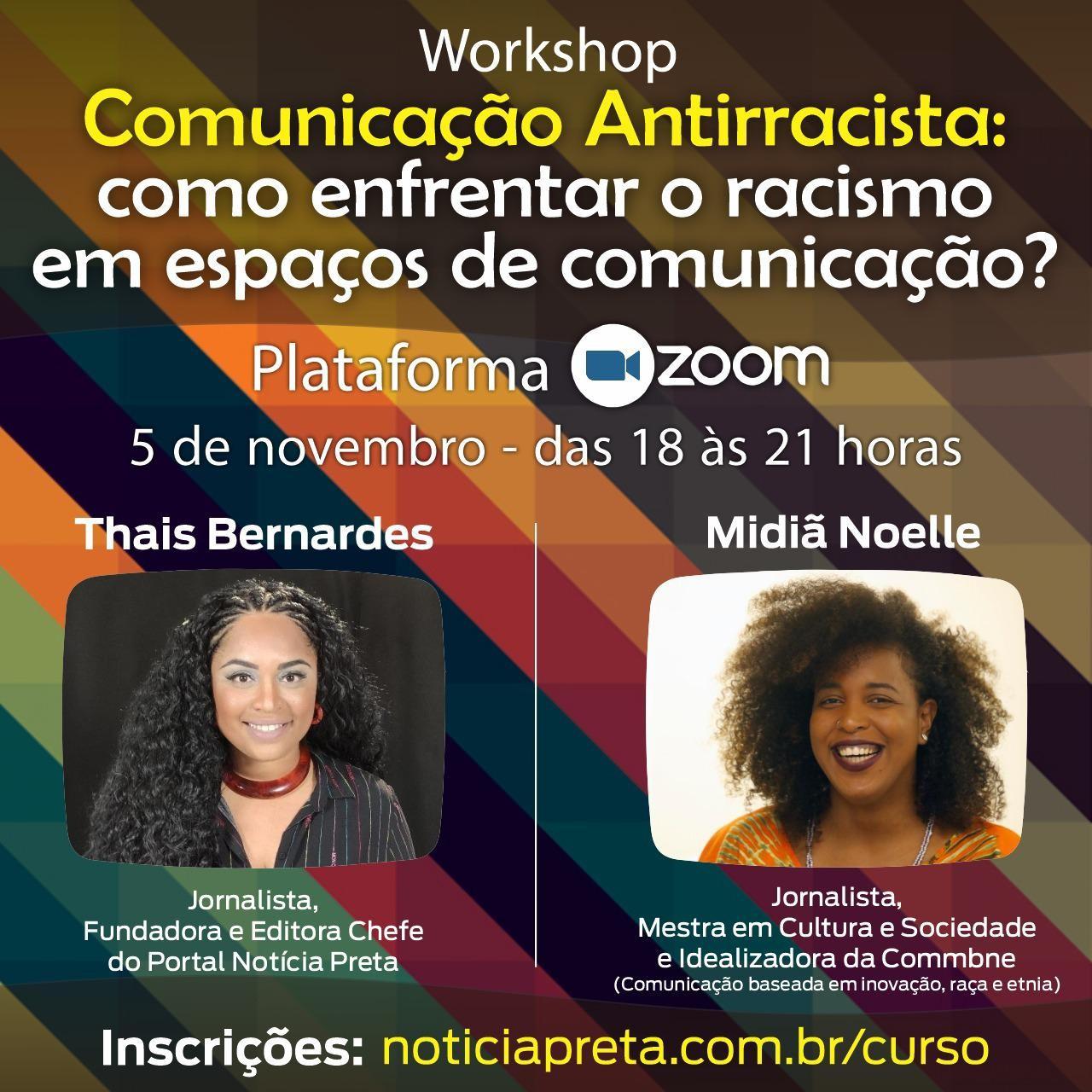 Workshop sobre Comunicação antirracista abre inscrições; veja