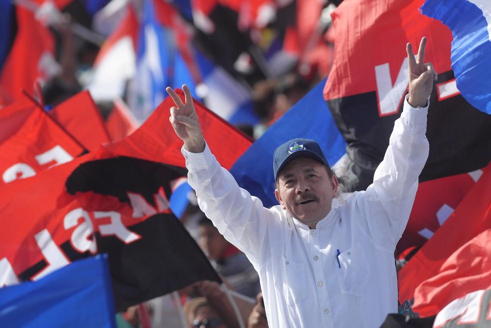 Presidente da Nicarágua, Daniel Ortega, em imagem de arquivo — Foto: Marvin Recinos/AFP