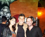 Eduardo Moscovis com a filha, Sofia, e o promoter Leo Marçal | Vinícius Fragoso Bittencourt