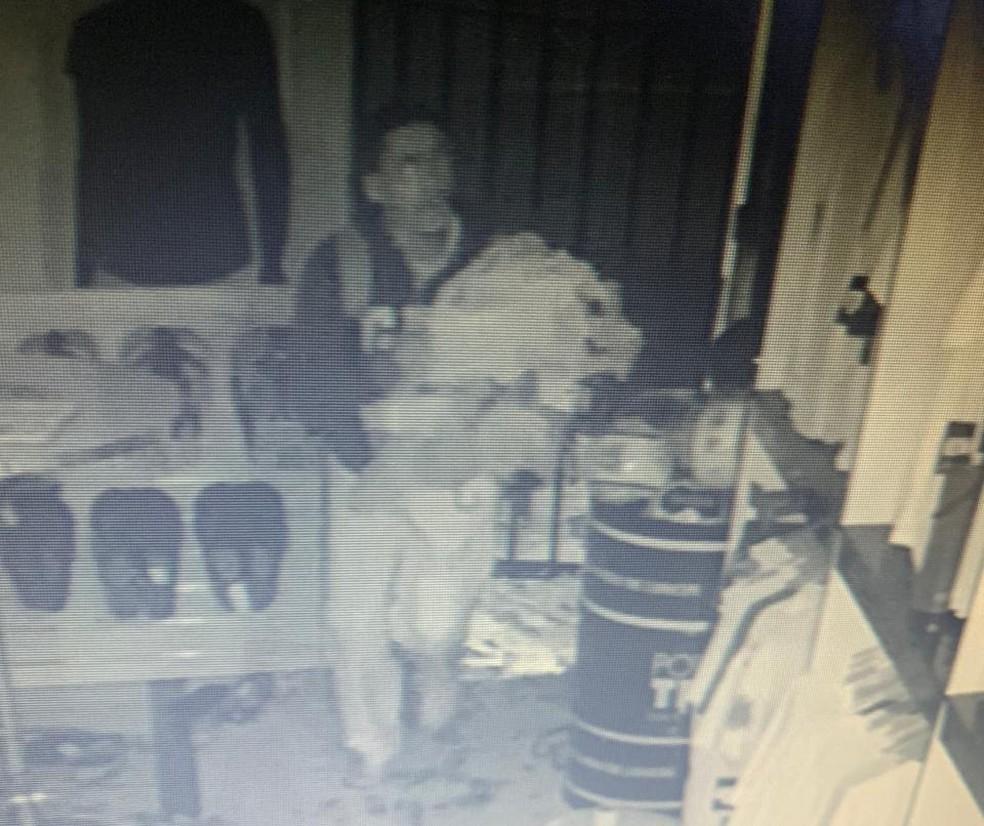 Polícia divulga imagens do homem suspeito de furtar lojas do Flamengo e Corinthians no DF — Foto: PCDF/Divulgação