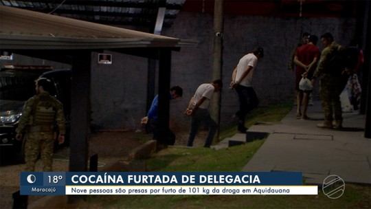 Nove são presos por furto de 101 kg de cocaína de delegacia em Aquidauana