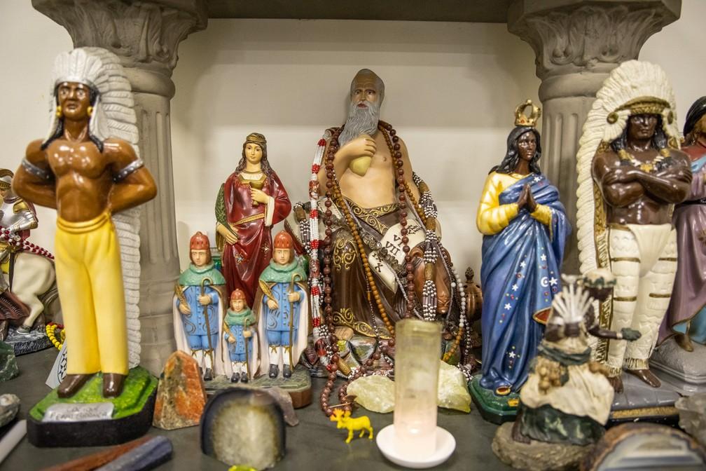 Altar do Colégio Pena Branca, na Zona Sul de SP — Foto: Fábio Tito/G1