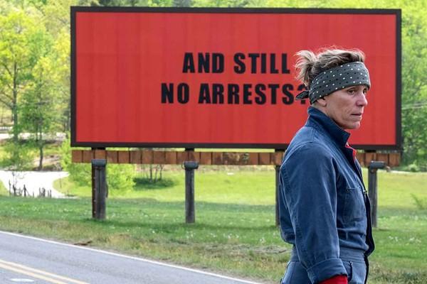 A atriz Frances McDormand em cena de Três Anúncio para um Crime (2018) (Foto: Reprodução)