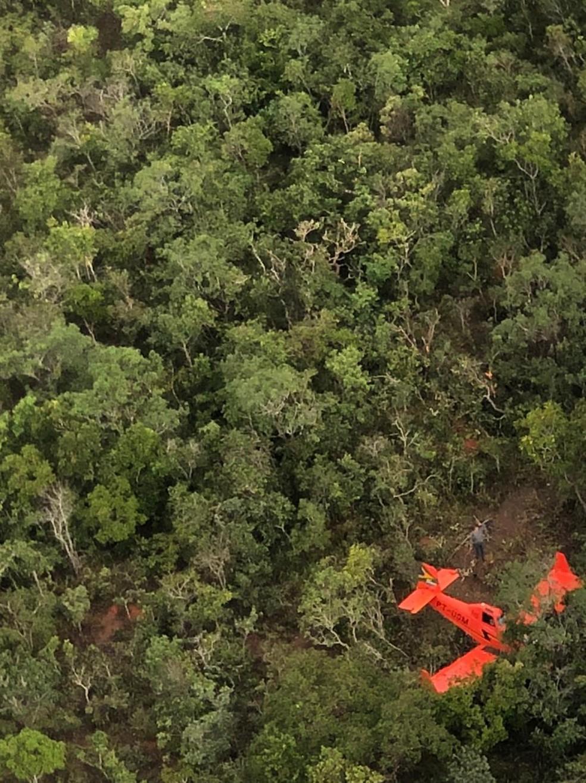 Piloto faz pouso forçado em aldeia indígena após avião ter pane elétrica em Mato Grosso — Foto: Divulgação