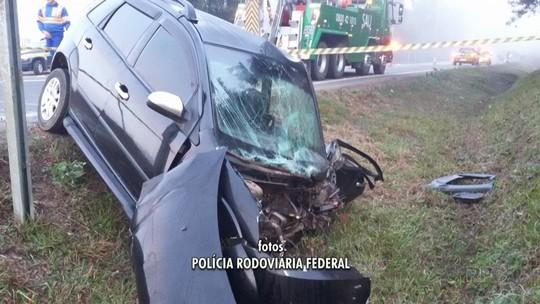 Homem fica ferido em acidente na BR-277, na região de Fernandes Pinheiro