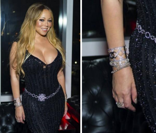A cantora Mariah Carey com o anel de noivado dado a ela por seu ex, o empresário James Packer (Foto: Instagram)