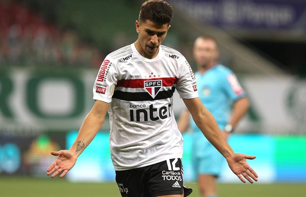 Vitor Bueno São Paulo Palmeiras gol — Foto: Rubens Chiri/saopaulofc.net