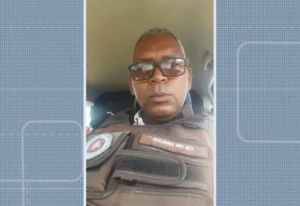 Cabo Eraldo Vieira tinha 50 anos e é o quarto policial militar a morrer por causa da Covid-19 na Bahia.  — Foto: Reprodução/TV Bahia