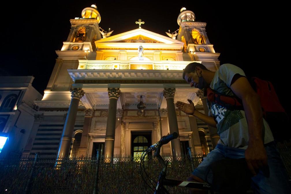 Imagem de Nossa Senhora será exposta durante quadra nazarena na Praça Santuário. — Foto: Tarso Sarraf