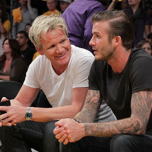 Gordom Ramsay e David Beckham (Foto: Noel Vasquez/Getty Images)