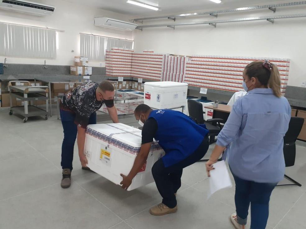Paraíba recebe 36 mil doses da vacina de Oxford e deve iniciar vacinação nesta segunda-feira (25) — Foto: SES-PB/Divulgação