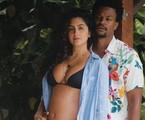 David Junior e Yasmin Garcez, que está grávida do primeiro filho do casal | Reprodução