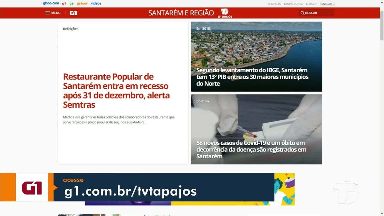 Confira os principais destaques do G1 Santarém e região