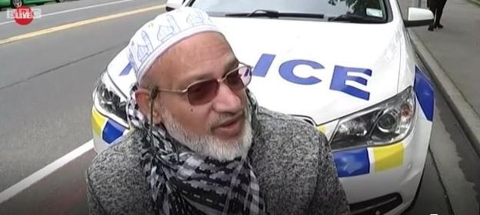 'Ouvia gritos, gente chorando. Vi algumas pessoas caírem mortas', diz Ahmed — Foto: BBC
