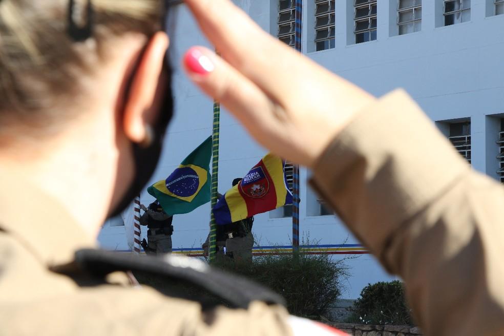 """Operação """"Filhas de Minas"""" é realizada no Triângulo, Alto Paranaíba e Noroeste de Minas para comemorar ingresso das mulheres na PMMG — Foto: Sérgio Teixeira/Assessoria de Comunicação 5ª RPM"""