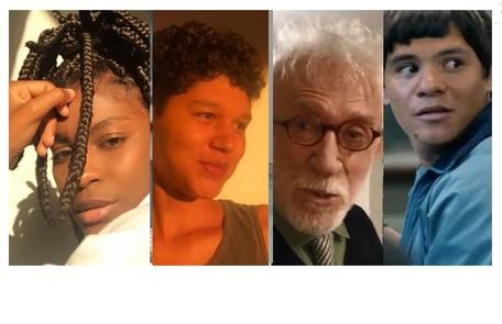 Jeniffer Dias, ator e atriz Gustavo Luz, o veterano Moacyr Franco e o ator indígena Adanilo são alguns dos que fazem participações em 'Segunda chamada' Reprodução