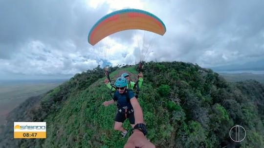 """""""Vai Encarar?"""" vai até o Morro do Itaóca em Campos dos Goytacazes para um voo de parapente"""