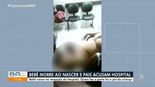 'Não deixaram eu ver minha filha,  quero justiça', diz mãe de bebê que morreu após nascer em recepção de hospital na Bahia