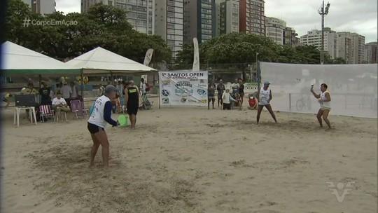 Torneio inédito de frescobol é realizado em Santos neste fim de semana