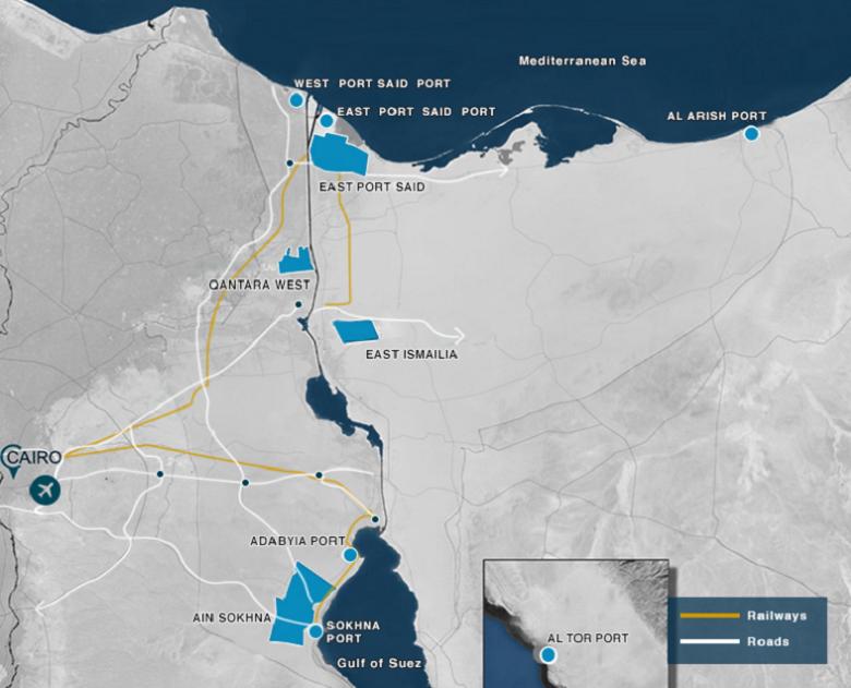 mapa-canal-suez (Foto: SCZone)
