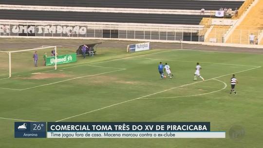 Comercial reclama de arbitragem do 2º tempo de derrota para XV em Piracicaba
