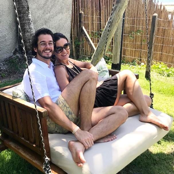 Fátima Bernardes e Túlio Gadêlha (Foto: Instagram/Reprodução)