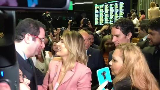 Na Câmara, Michelle Bolsonaro promete apoio a pacientes com doenças raras