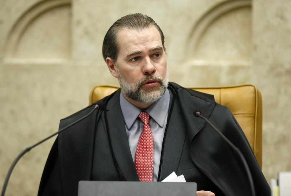 O presidente do Supremo Tribunal Federal, Dias Toffoli — Foto: Rosinei Coutinho/SCO/STF