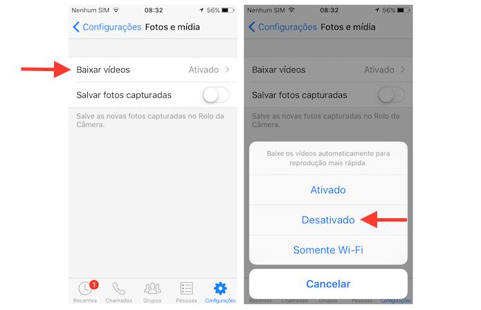 Tudo sobre o Facebook Messenger Arquivos e Vídeos - configuracoes