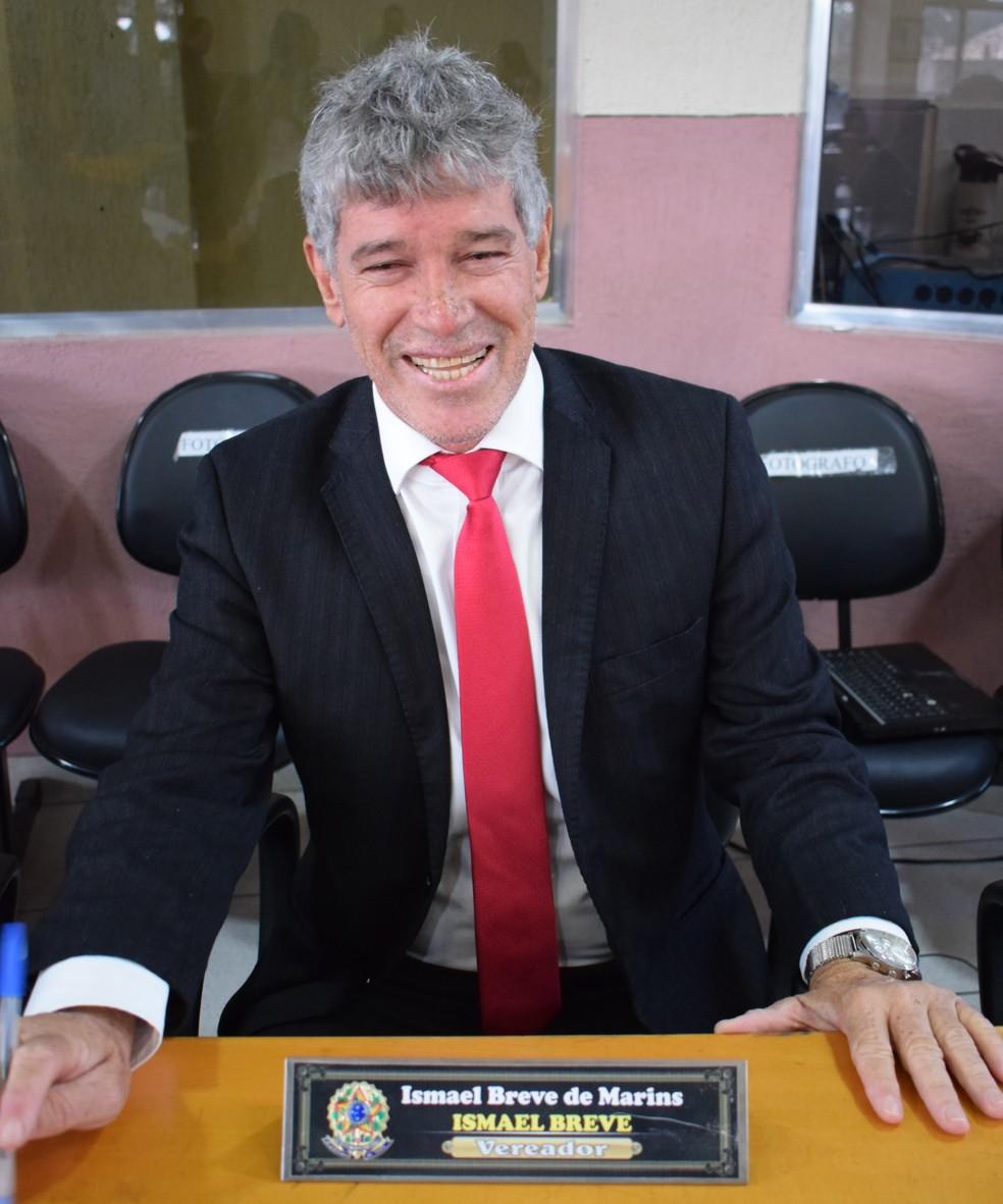 Vereador Ismael Breve foi assassinado a tiros na madrugada desta quinta-feira (22) em Maricá — Foto: Divulgação/Câmara de Vereadores de Maricá
