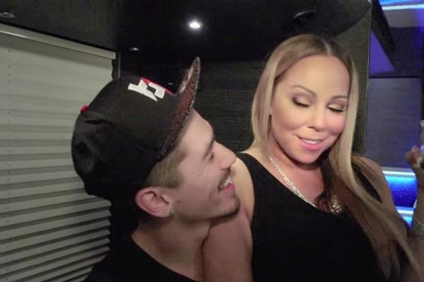 A cantora Mariah Carey com o dançarino Bryan Tanaka (Foto: Reprodução)