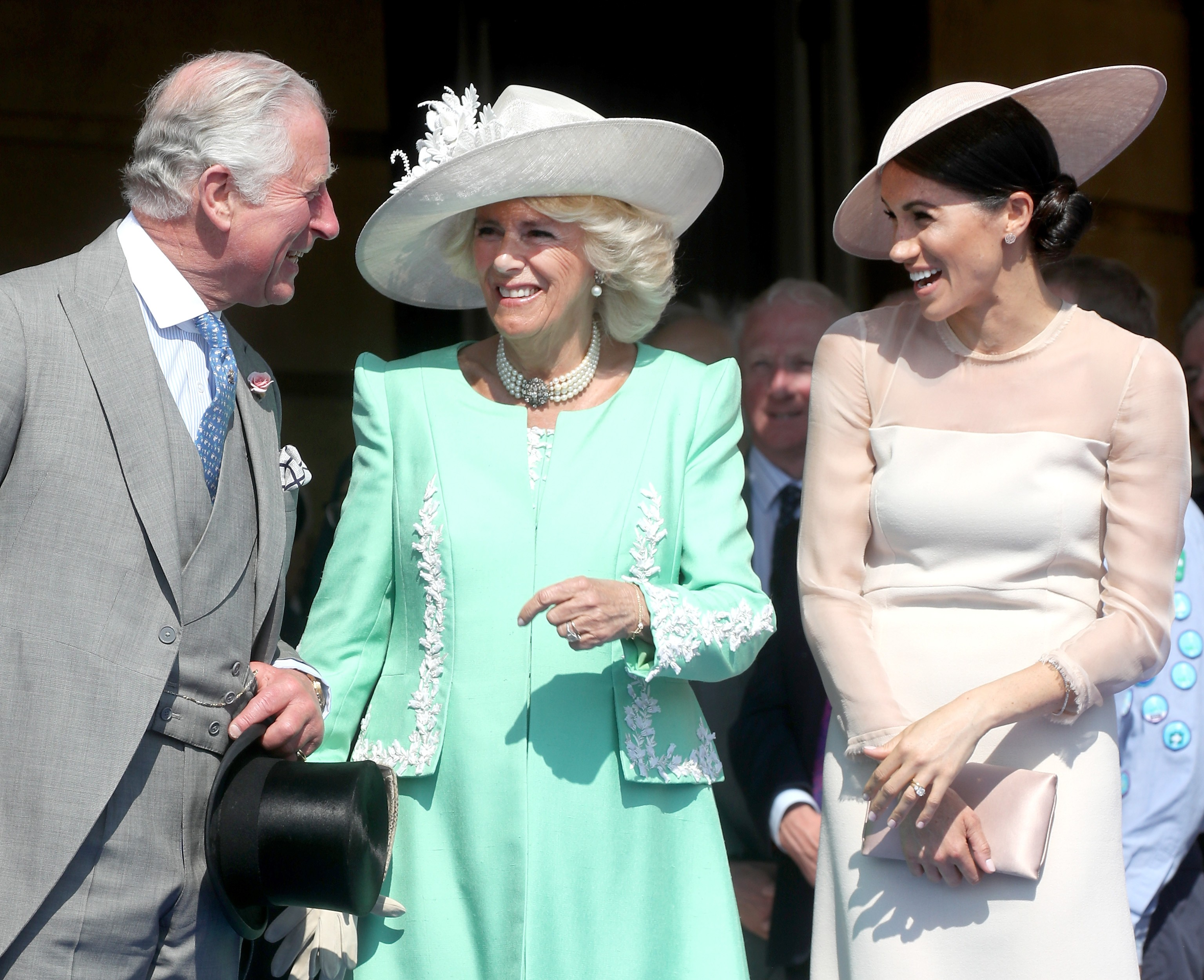 Príncipe Charles, Camilla Parker e Meghan Markle (Foto: Getty Images)