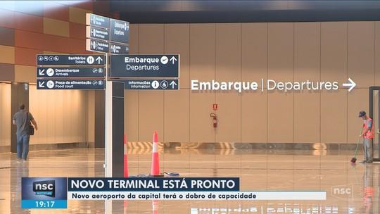 8d751fe363eb A dois meses da inauguração, novo aeroporto de Florianópolis tem testes e  montagem de lojas