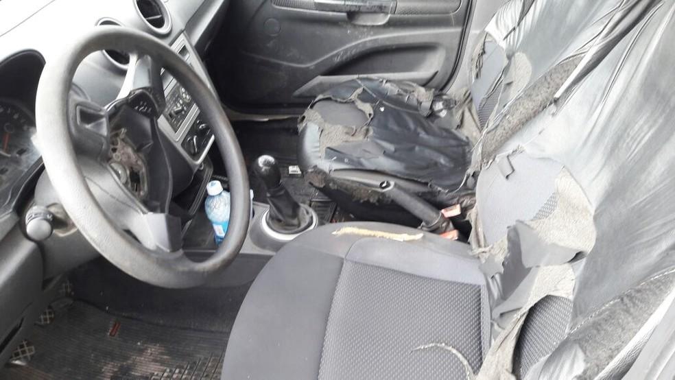 PM tem carros sucateados, que sem condições de rodar estão parados nos quartéis (Foto: PM/Divulgação)