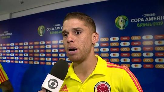 """Cuéllar se diz orgulhoso por atuação da Colômbia e desconversa sobre Flamengo: """"Foco na seleção"""""""