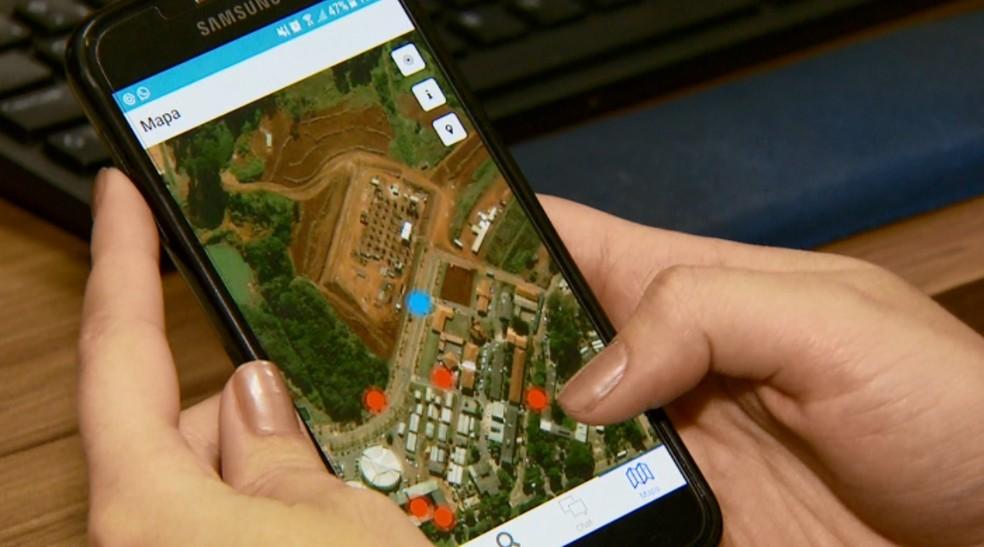 Aplicativo ajuda a mapear nascentes que precisam de recuperação em Lavras (Foto: Reprodução EPTV)