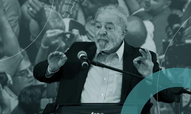 Ex-presidente Luiz Inácio Lula da Silva discursa no Sindicato dos Metalúrgicos do ABC sobre a anulação de suas condenações na Lava-Jato