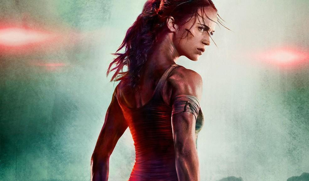 Alicia Vikander no papel de Lara Croft, em 'Tomb Raider'. (Foto: Divulgação/Warner Bros.)