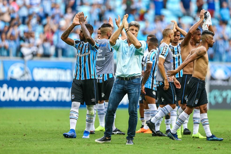 Renato tem o nome gravado na história do Grêmio como jogador e como técnico — Foto: Lucas Uebel / Grêmio, DVG