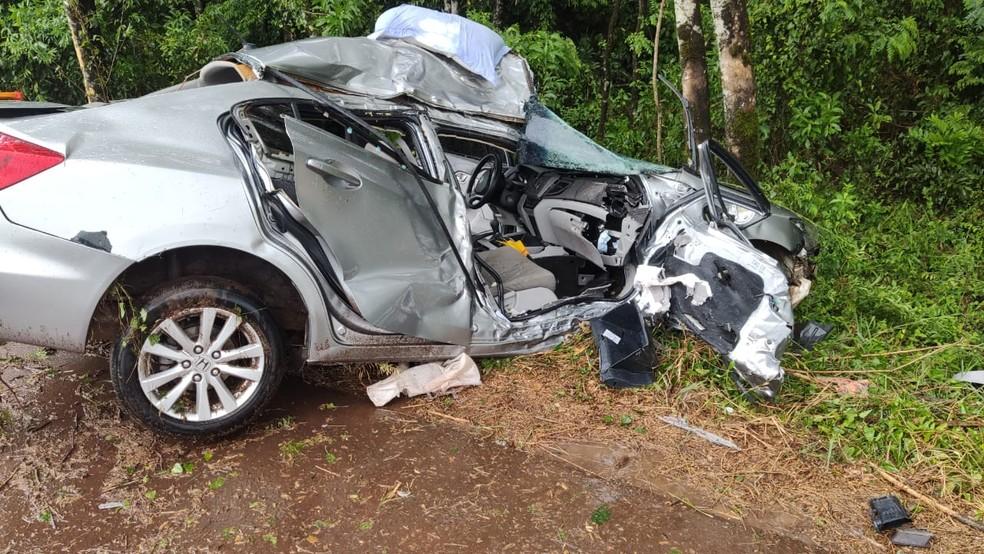 Mulher morre após acidente na ERS-155 em Santo Augusto — Foto: Santo Augusto Online/Divulgação
