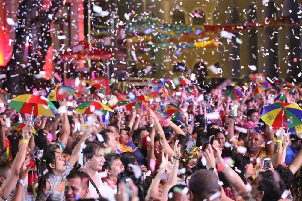 Não faltou frevo na abertura do carnaval recifense (Foto: Marlon Costa/Pernambuco Press)