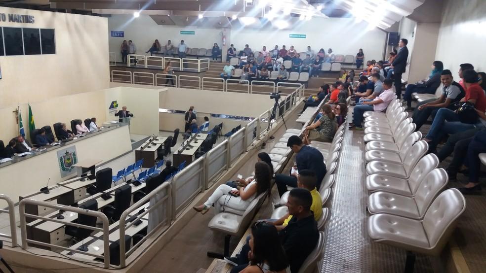 Audiência contou com a presença de representantes dos municípios do Amapá (Foto: Jéssica Alves/G1)