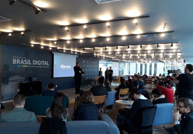 Evento de lançamento do Movimento Brasil Digital (Foto: Divulgação)