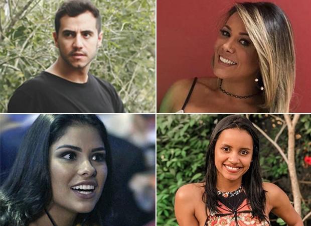Matheus Lisboa, Fabiana Teixeira, Munik Nunes e Gleici Damasceno são alguns dos ex-BBBs que cosquistaram oportunidades em novelas (Foto: Anderson Marques e Reprodução/Instagram)