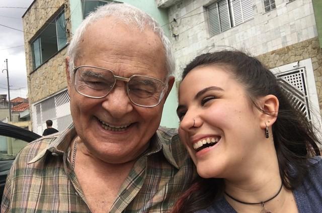 Othon Bastos e Giovanna Rispoli em 'Carcereiros' (Foto: Arquivo pessoal)