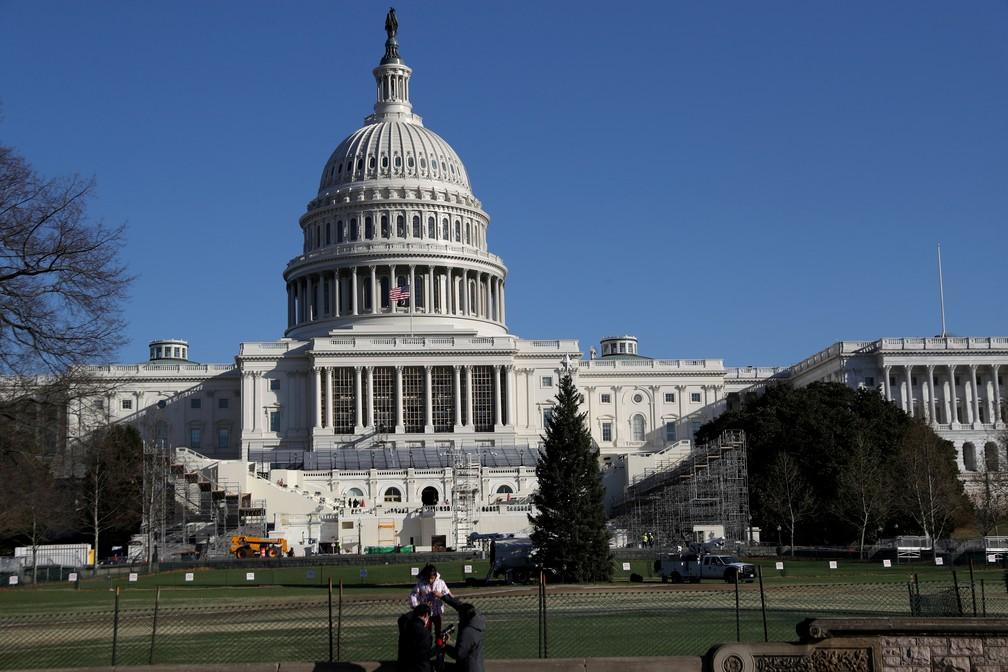 Prédio do Capitólio em Washington D.C., que abriga o Congresso dos EUA, em foto de 28 de dezembro de 2020 — Foto: Leah Millis/Arquivo/Reuters