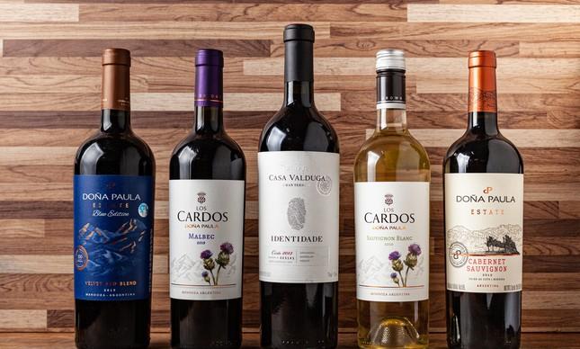 Rótulos em promoção na Griffe dos Vinhos