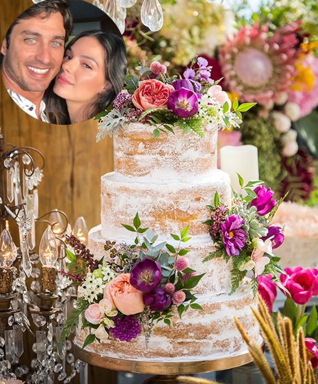 Bolo de casamento Ísis Valverde e André Resende (Foto: Instagram/ Reprodução)