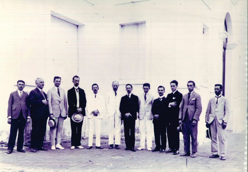 Sobral recebeu comitiva de cientistas dos Estados Unidos, Inglaterra e outros estados brasileiros — Foto: Museu do Eclipse/Arcevo
