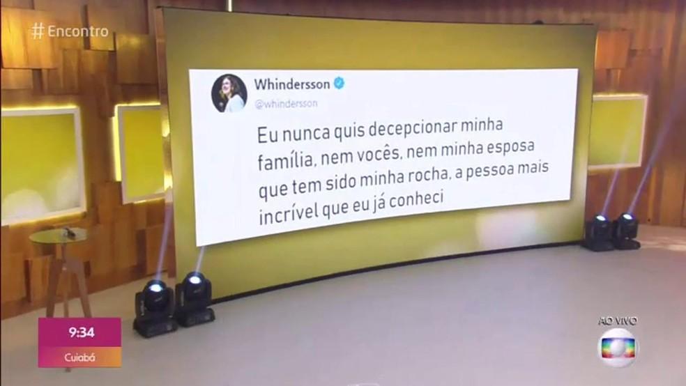 """No Encontro, Luísa Sonza fica comovida ao falar sobre depressão de Whindersson Nunes: """"Eu já vinha sentindo há quase um ano"""""""